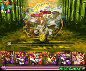 タケミナカタ降臨!武刀神の超地獄級を赤関羽&覚醒ミネルヴァパでノーコン攻略