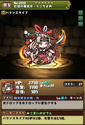2020紅焔の舞巫女・ミニちよめ