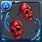 5462双面の赤きドクロのピアス